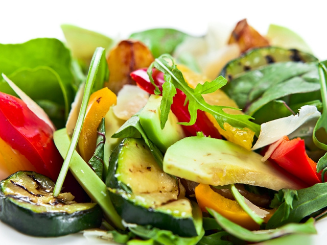 Griddled Avocado Salad with Wasabi & Lime Dressing