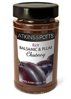 Balsamic & Plum Chutney - Atkins & Potts