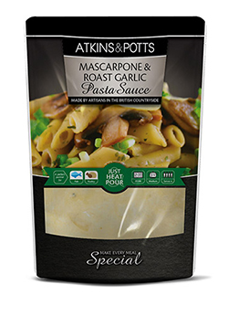 Mascapone and Roast Garlic Pasta Sauce - Atkins & Potts