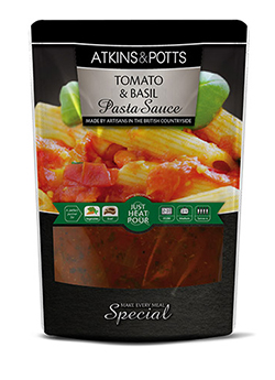 Tomato and Basil Pasta Sauce - Atkins & Potts