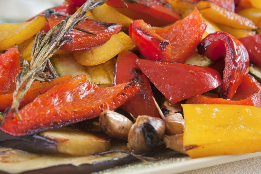 Roasted Vegetables with Roasted Garlic & Balsamic Dressing