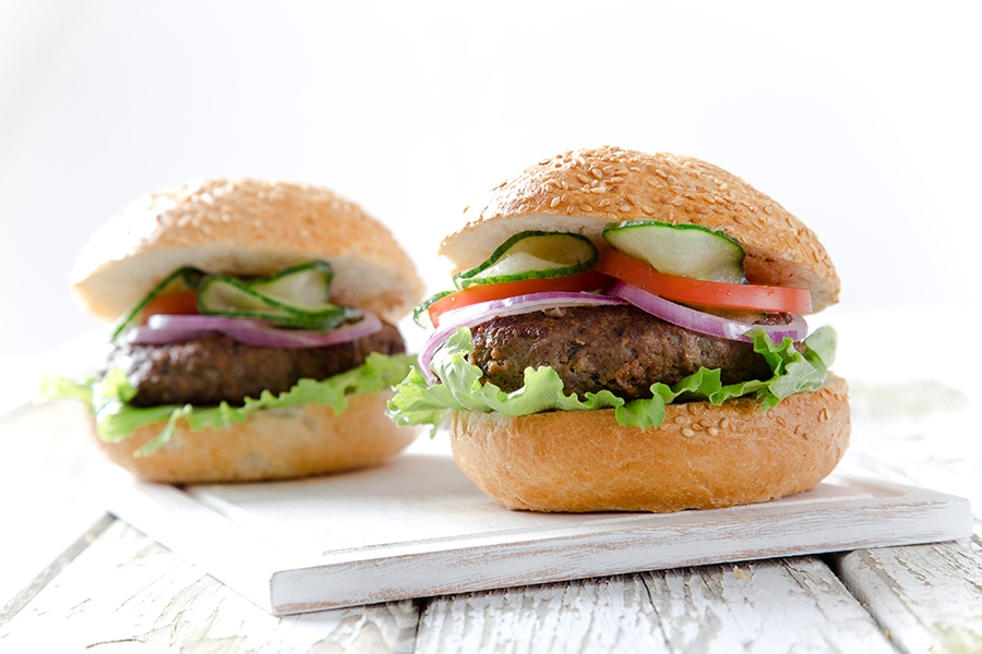 British Beef Burgers with Ranch Dressing