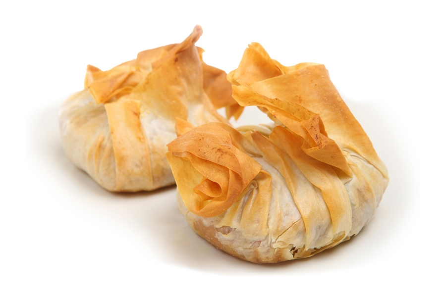 Filo and Feta Parcels with Balsamic Plum Chutney