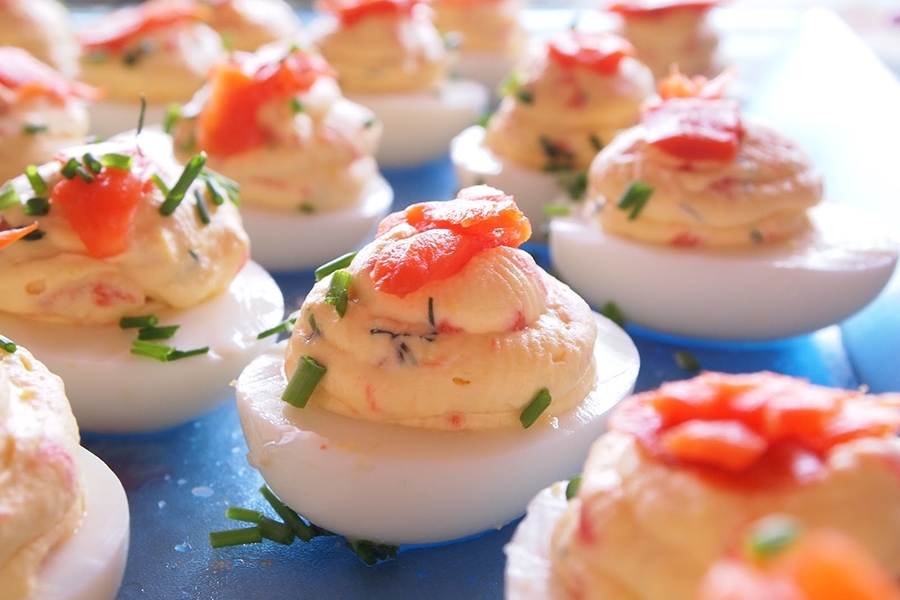 Devilled Eggs with Chipotle Mayonnaise