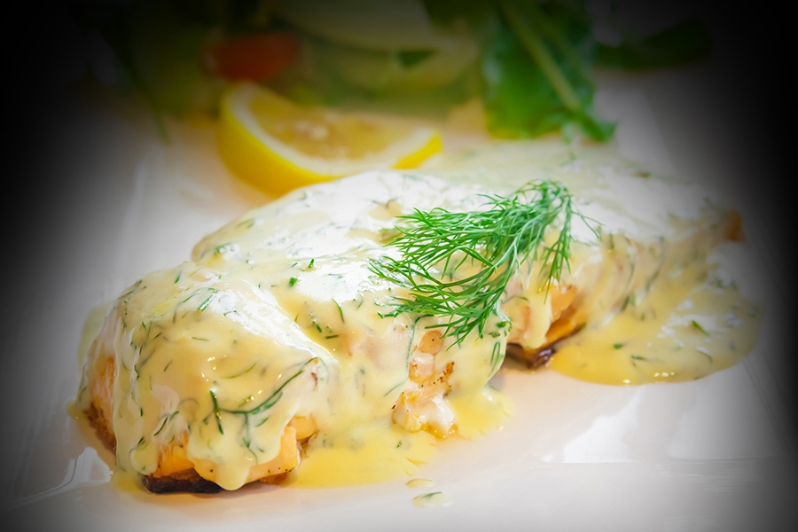 Salmon with Dill Hollandaise
